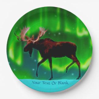 Alces de la aurora boreal
