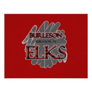 ALCES de la High School secundaria de Burleson - B Anuncio
