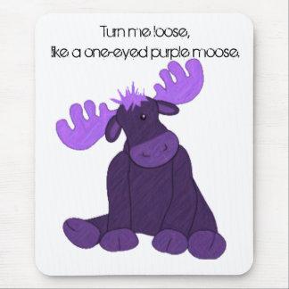 Alces de la púrpura de Hanson Tapete De Ratón