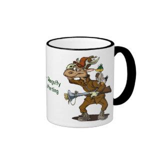 Alces de la taza de café del dibujo animado el |