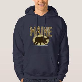 Alces de Maine Pulóver Con Capucha