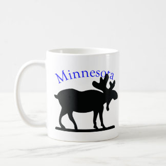 Alces de Minnesota Taza Básica Blanca