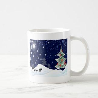 Alces de Navidad Tazas