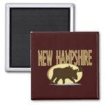 Alces de New Hampshire Imán Cuadrado