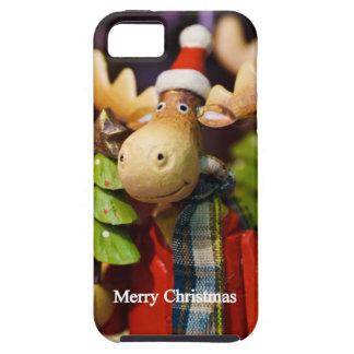 Alces de Papá Noel de las Felices Navidad iPhone 5 Protectores