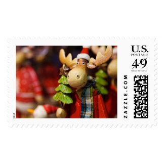 Alces de Papá Noel del ornamento del navidad Sello Postal