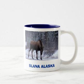 Alces de Slana, SLANA ALASKA Taza De Dos Tonos