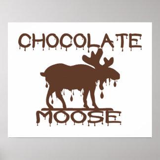 Alces del chocolate impresiones