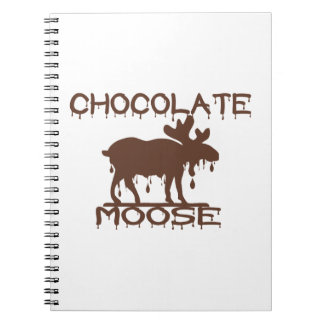 Alces del chocolate spiral notebooks