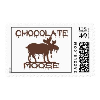 Alces del chocolate timbre postal