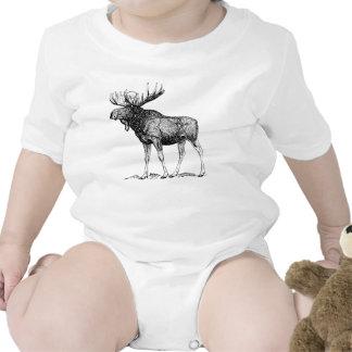 Alces del invierno trajes de bebé