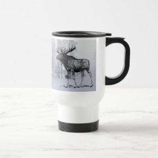 Alces del invierno taza