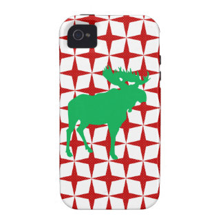 Alces del navidad Case-Mate iPhone 4 carcasa