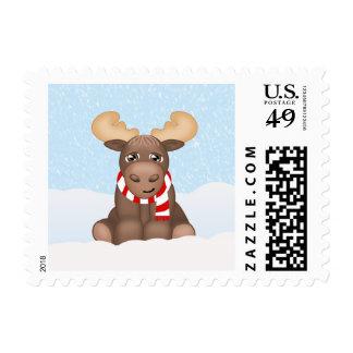 Alces del navidad sellos