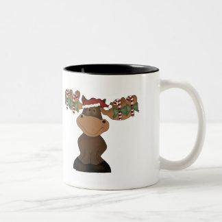 Alces del navidad taza de café