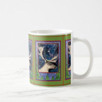 Alces del navidad tazas de café