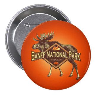 Alces del parque nacional de Banff Pin Redondo De 3 Pulgadas