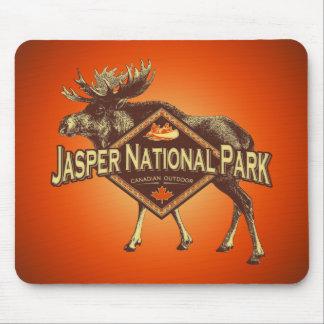 Alces del parque nacional de jaspe alfombrillas de ratón