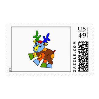 Alces del remiendo timbre postal