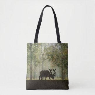 Alces en el ejemplo del bosque bolsa de tela