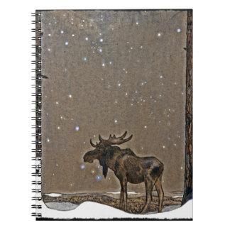 Alces en nieve libretas