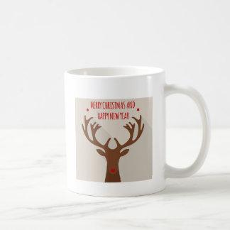 Alces frescos de la cadera del reno del navidad taza de café