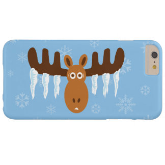 Alces Head_Icicle Antlers_Snowflakes_Humorous Funda De iPhone 6 Plus Barely There