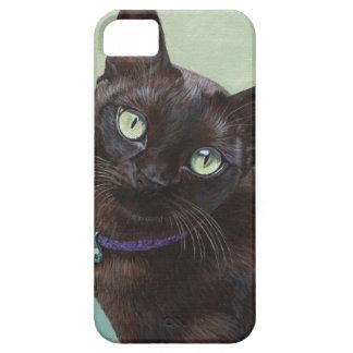 Alces negros del gato birmano iPhone 5 funda