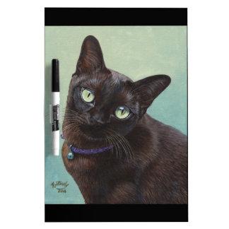 Alces negros del gato birmano tableros blancos