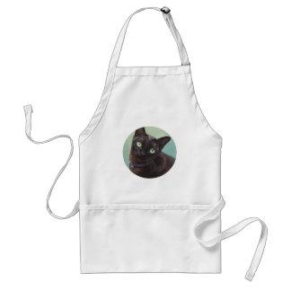 Alces negros del gato de Murmese Delantales