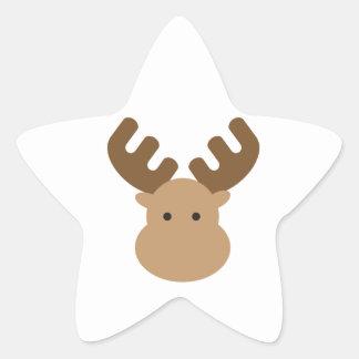 Alces Pegatina Forma De Estrella