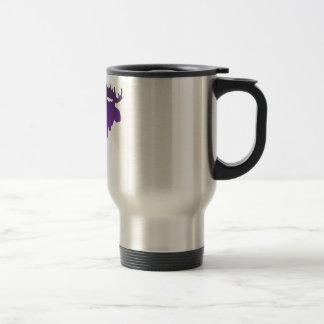 Alces púrpuras taza de café