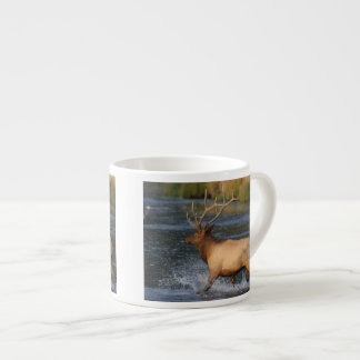 alces que salpican en el agua taza espresso