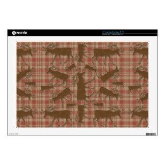 Alces rústicos del marrón de la tela escocesa calcomanías para 43,2cm portátiles