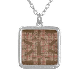 Alces rústicos del marrón de la tela escocesa colgante cuadrado