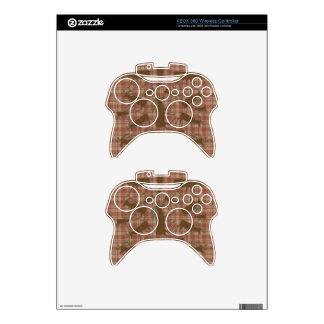 Alces rústicos del marrón de la tela escocesa mando xbox 360 skin