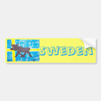 Alces suecos etiqueta de parachoque