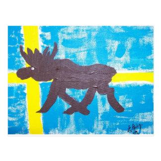 Alces suecos tarjeta postal