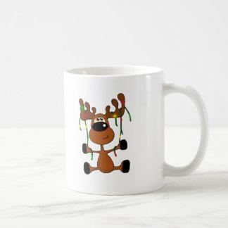 Alces torcidos del navidad tazas de café