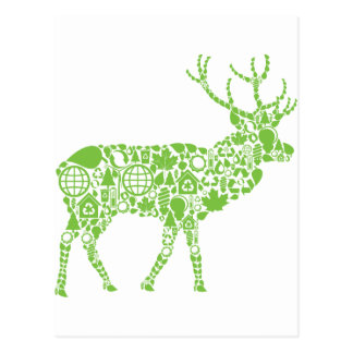 Alces verdes postal