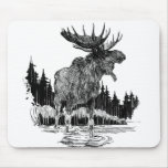 Alces viejos magníficos mouse pads