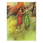 Alceste y dios de la postal del amor