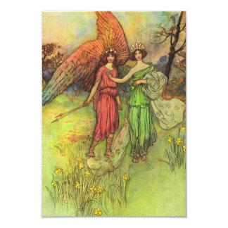 """Alceste y dios del amor invitación 3.5"""" x 5"""""""