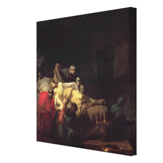 Alcestis sacrifices herself to save her husband Ad Canvas Print
