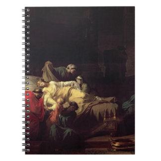 Alcestis se sacrifica para ahorrar su anuncio del cuaderno