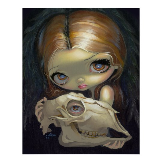 Alchemical Angel 1 ART PRINT gothic skull lowbrow