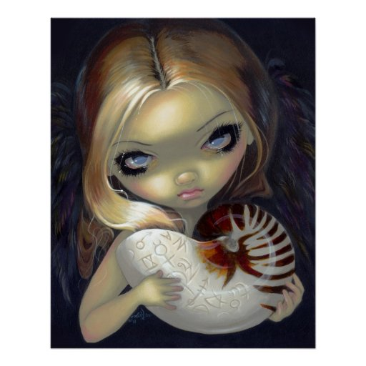 Alchemical Angel 2 ART PRINT gothic fairy nautilus