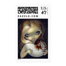 artsprojekt, art, fantasy, eye, eyes, alchemy, alchemical, text, texts, alchemist, shell, nautilus, seashell, sea shell, spiral, ocean, water, elemental, magic, rune, runes, angel, fairy, angels, creepy, renaissance, medieval, icon, icons, science, occult, big eye, big eyed, jasmine, becket-griffith, becket, griffith, jasmine becket-griffith, jasmin, Selo postal com design gráfico personalizado