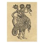 alchemical dragon post card