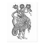 alchemical dragon postcard